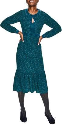 Boden Annabelle Velvet Detail Dress