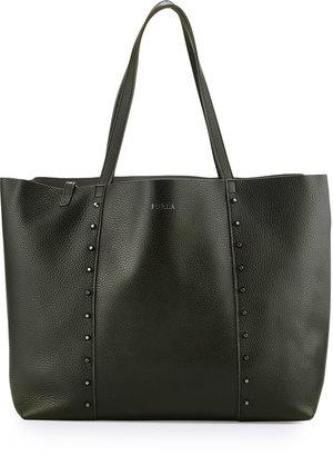 Furla Elle Rock Medium Leather Tote Bag, Onyx $270 thestylecure.com