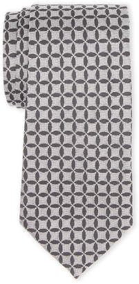Burberry Grey Print Silk Tie