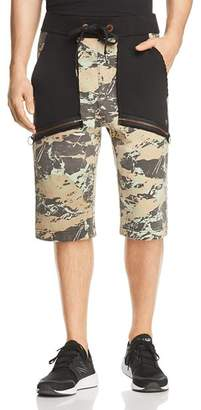 True Religion Camouflage Blocked Sweat Shorts