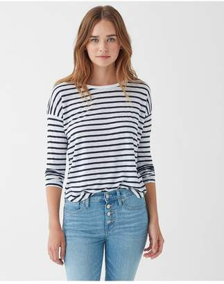 Splendid Zander Striped Long Sleeve Easy Crew