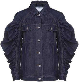 Dries Van Noten Vortice Ruched-sleeve Cotton-denim Jacket