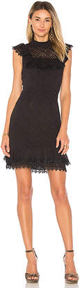 Ella Moss Ruffle Dress in Black $188 thestylecure.com