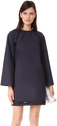Derek Lam 10 Crosby Bell Sleeve Dress with Lacing $395 thestylecure.com
