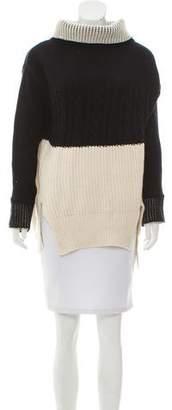 Prabal Gurung Colorblock Turtleneck Sweater