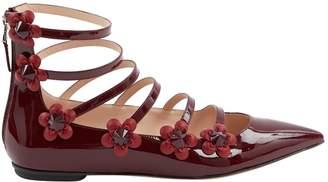 Fendi Burgundy Patent leather Ballet flats