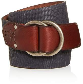 Frye Men's O-Ring Buckle Canvas Belt