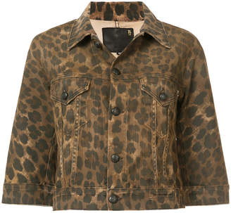 R 13 Jackie Leopard Trucker jacket