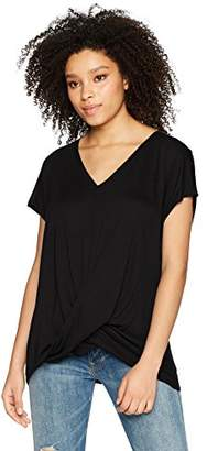 Three Dots Women's Vintage Jersey Short Loose Twist top