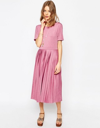 ASOS Pleated Midi Dress $43 thestylecure.com