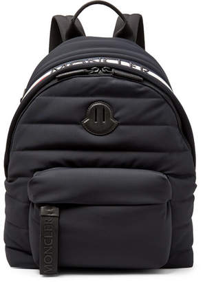 Moncler Logo-Webbing And Leather-Trimmed Quilted Shell Backpack