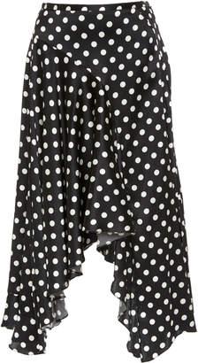 Caroline Constas Flounce Polka Dot Skirt