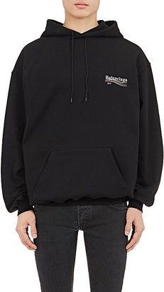 Balenciaga Men's Logo Cotton Terry Hoodie $650 thestylecure.com