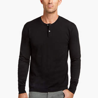 James Perse COTTON CASHMERE HENLEY SWEATER