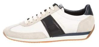 Tom Ford Suede & Canvas Low-Top Sneakers