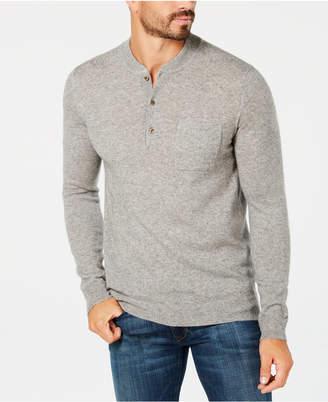 Tasso Elba Men's Cashmere Henley Sweater, Created for Macy's