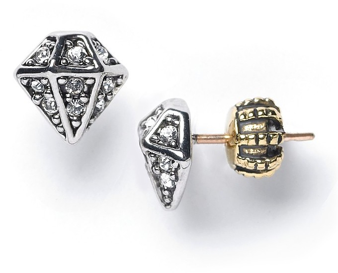 Juicy Couture Diamond Outline Stud Earrings