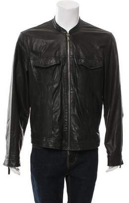 John Varvatos Zip-Up Leather Jacket