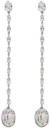 Saint Laurent Smoking crystal chain earrings
