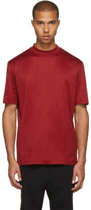 Lanvin Red High Collar T-Shirt
