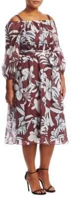Marina Rinaldi Marina Rinaldi, Plus Size Diabase Floral Dress
