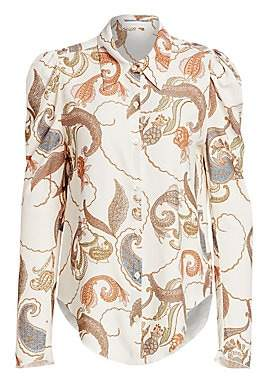 See by Chloe Women's Paisley Silk Blouse