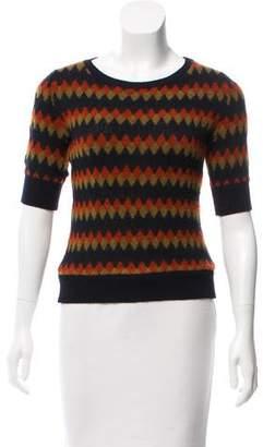 Roberto Collina Short Sleeve Crew Neck Sweater