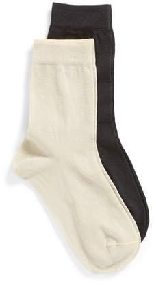 Nordstrom 2-Pack Sparkle Crew Socks