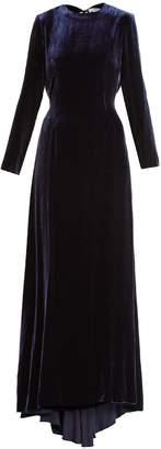 RACIL Somerset low-back velvet maxi dress