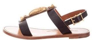 Valentino Leather Flat Sandals