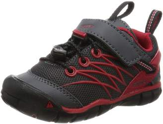Keen CHANDLER CNX Hiking Shoes, Magnet/Tango Red