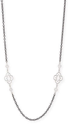 Armenta Heraldry Scroll Cable Chain Necklace, 37""