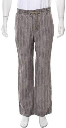 Hermes Striped Linen Pants