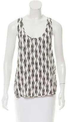 Thakoon Sleeveless Pattern Printed Top