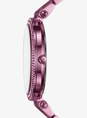 Michael Kors Darci Pave Plum-Tone Watch