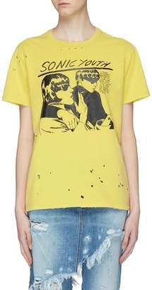 R 13 'Sonic Youth Boy' slogan graphic print T-shirt