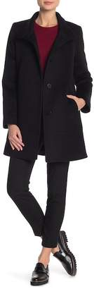 Fleurette Short Length Wool Blend Coat