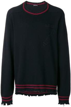 Riccardo Comi frayed hem sweater