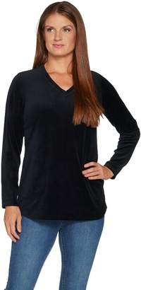 Denim & Co. Active Petite Velour Tunic with Pockets