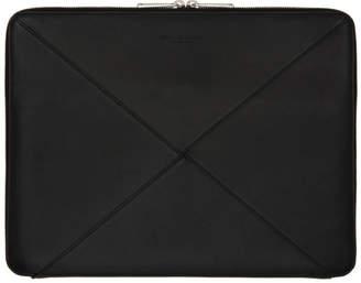 Bottega Veneta Black Max Weave Document Portfolio