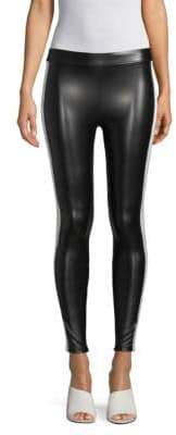 David Lerner Faux Leather Athletic Leggings