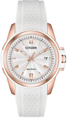 Citizen Drive From Eco-Drive Women's White Silicone Strap Watch 38mm