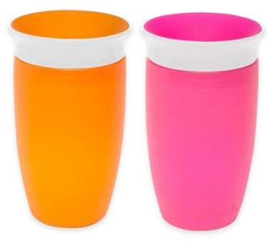 Munchkin® Miracle® 360Âo 2-Pack 10 oz. Sippy Cups in Pink/Orange