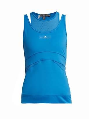adidas by Stella McCartney Racer Back Performance Tank Top - Womens - Light Blue