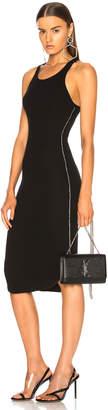 Frankie B. Side Seam Rhinestone Dress in Black | FWRD