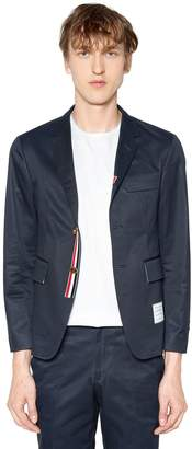 Thom Browne Unconstructed Cotton Twill Jacket