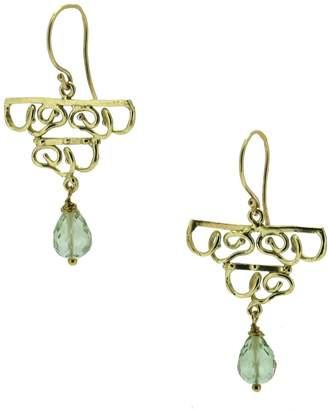 DAY Birger et Mikkelsen Lori Kaplan Jewelry Green Amethyst Chandelier Gold Earrings