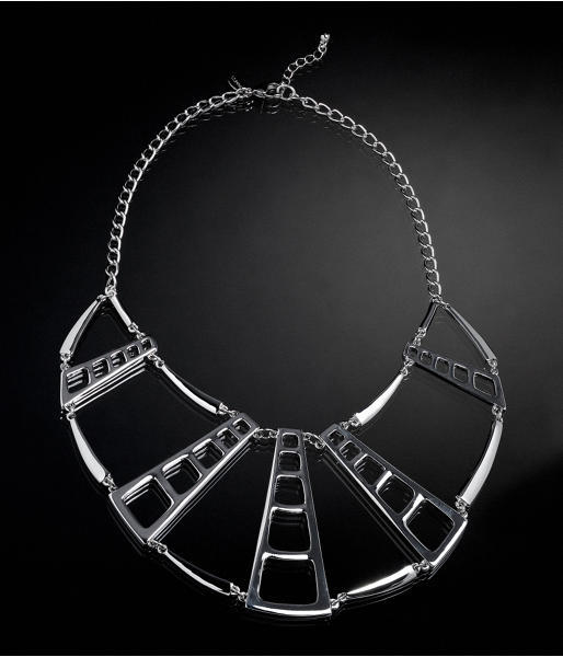 Express Cage Bib Necklace