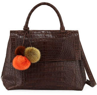 Nancy Gonzalez New Top-Handle Crocodile Satchel Bag