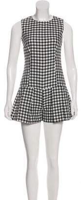 RED Valentino Low-Rise Gingham Romper